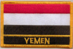 Yemen Embroidered Flag Patch, style 09.